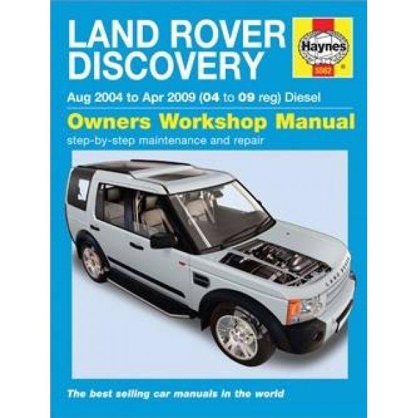 Haynes Werkplaats Handleiding – Land Rover Discovery 3 TdV6 diesel t/m modeljaar 2009