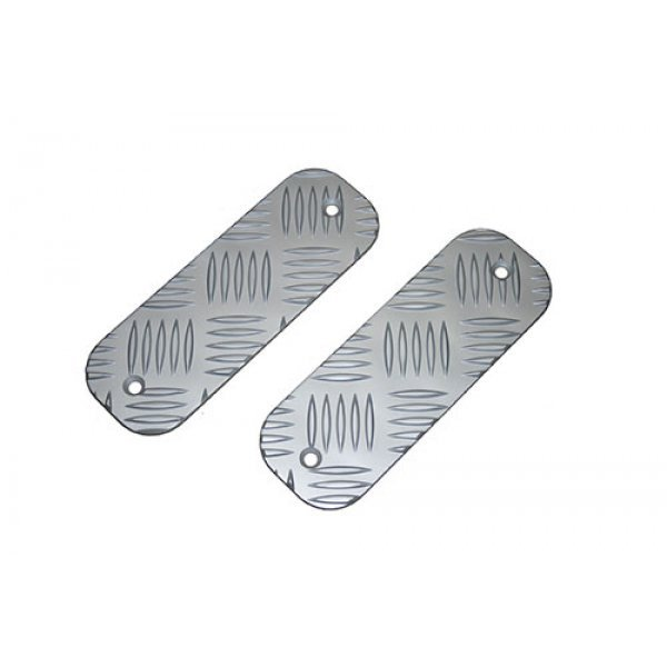 Short Bumper Tread Chequer Plate Kit Silver - BTS-KIT/A