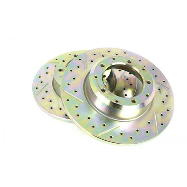 Brake Disc Cross Drilled and Grooved - LR018026CDG