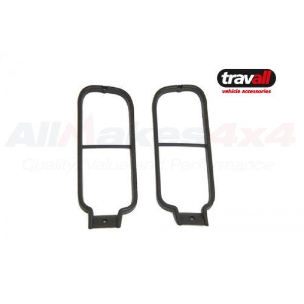 Pair Black Aluminium Rear Light Guards - VUB502590